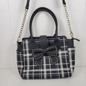 Betsey Johnson plaid sincerely yours tote
